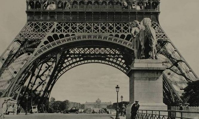 Paris by Mario von Bucovich, 1928. At the foot of the Eiffel Tower