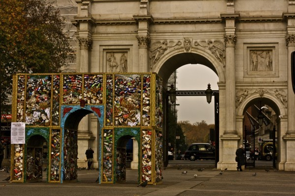 marble-arch-trash-art-london