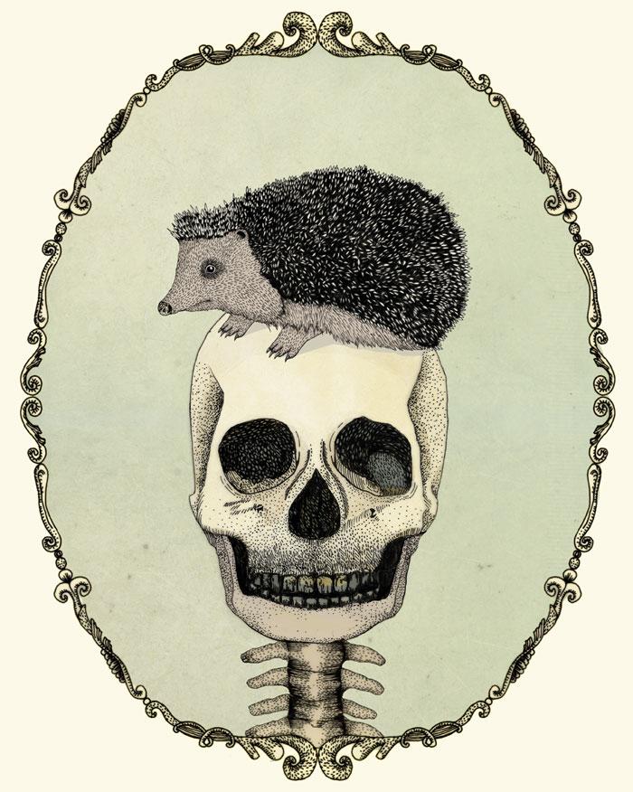 yojik-on-a-skull---pen-on-paper-and-digital-coloringByNoaAlon