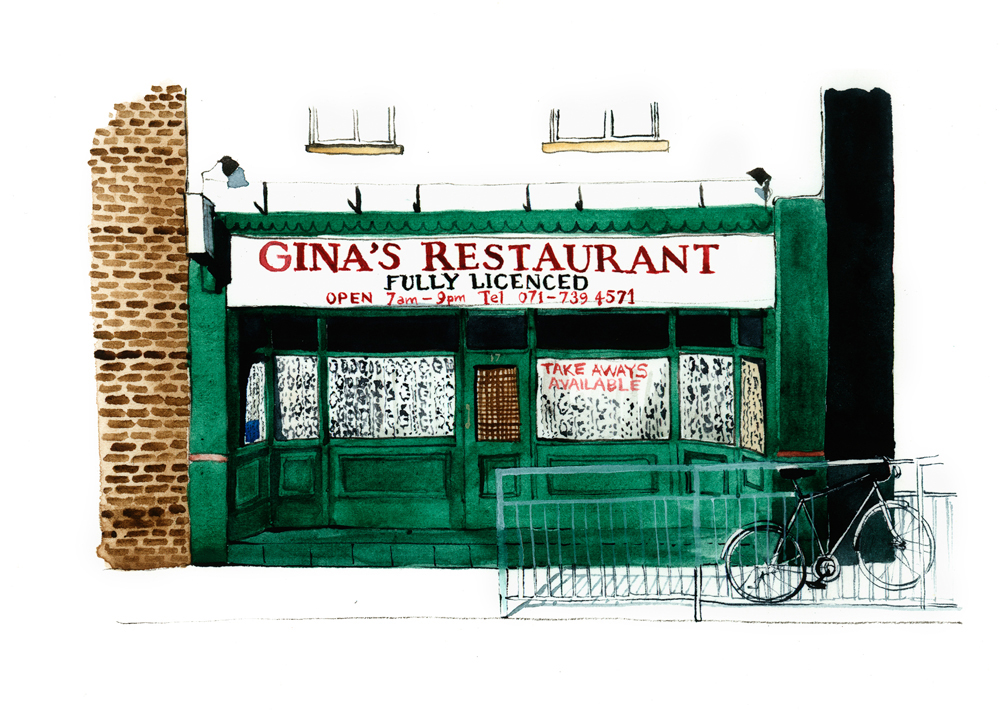 Gina's Restaurant Bethnal Green Road