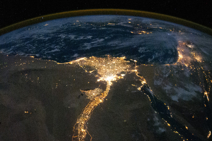 Nile-River-at-Night-by-ISS