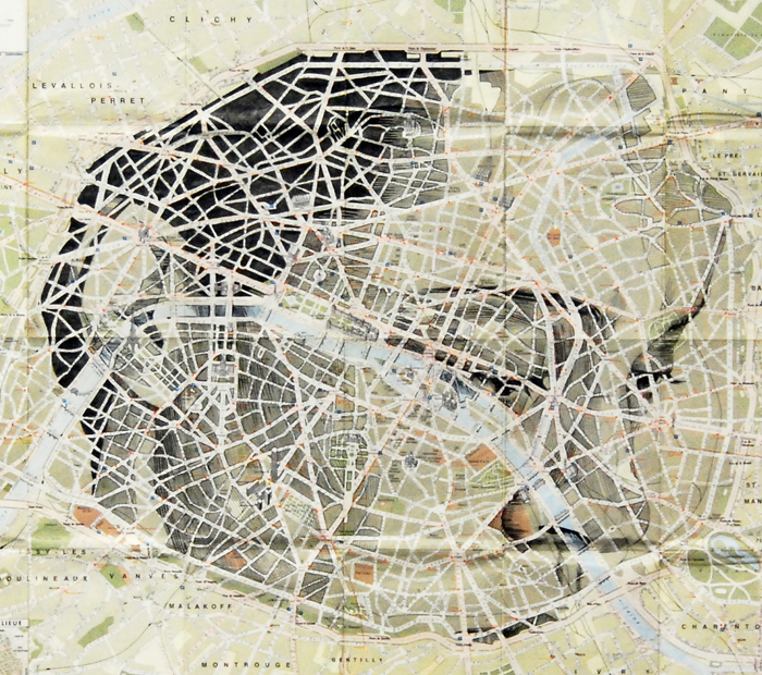 Ed Fairburn The Art Of Drawing On Old Maps CCTSeeCity - Artistic map of paris