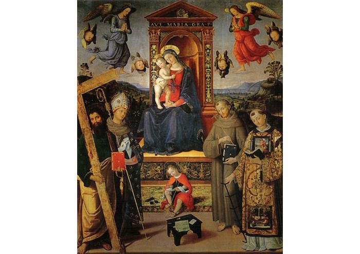 02 Pinturicchio,_madonna_in_trono_e_santi,_Spello,_318x257_cm,_spello,_chiesa_di_sant'andrea