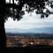 All'ombra dei lecci: Lucca vista dal giardino pensile sulla Torre Guinigi