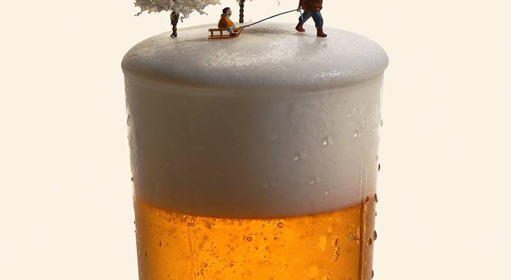 It has cold beer
