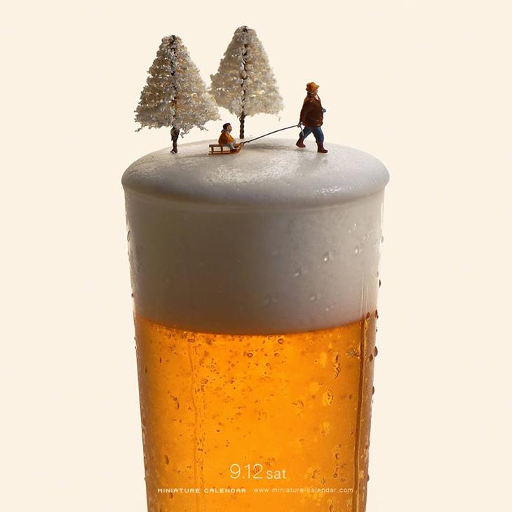 Miniature Calendar.Miniature Calendar A World Where Beer Foam Is Snow And Broccoli Are