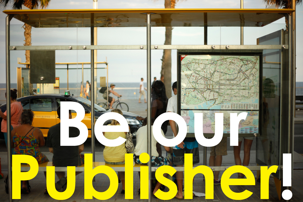 Be our Publisher!