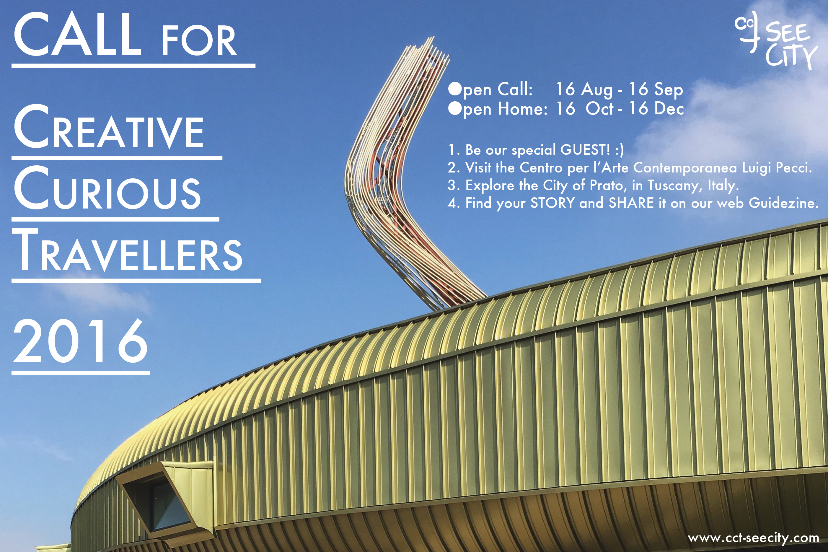 CALL for Creative Curious Travellers 2016