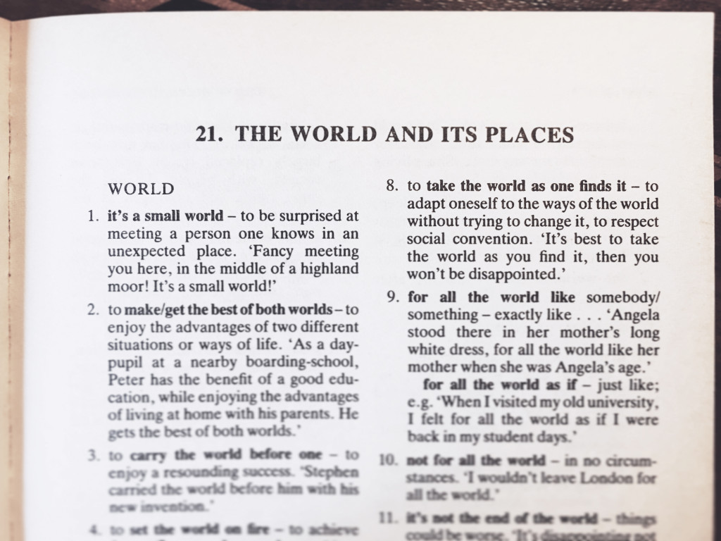 English Idioms The World And Its Places Cct Seecity