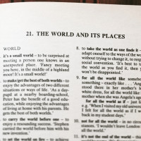 English idioms - the world and its places