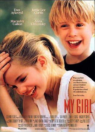 """La copertina originale del film col titolo americano """"My girl"""", titolo dell'omonimo brano dei """"The Temptations"""" che si sente nei titoli di coda."""