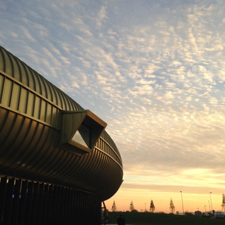 Centro Pecci at sunset