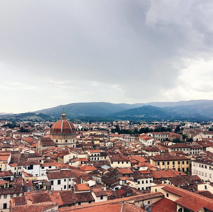 Vista panoramica dal Campanile di Pistoia