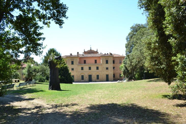 Veduta retro Villa Celle, 2016. © Collezione Gori