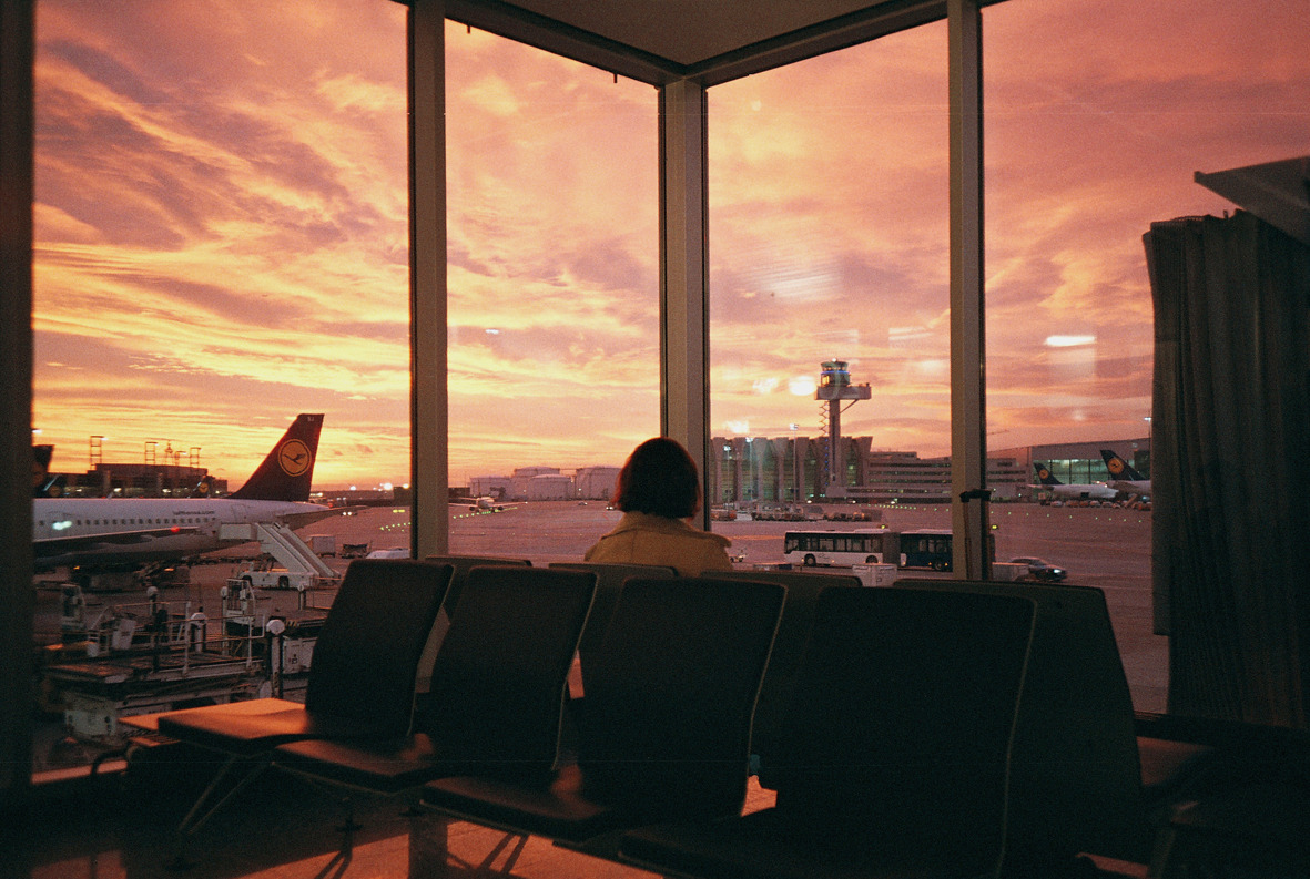 Frankfurt Airport by Gudrun Koppel