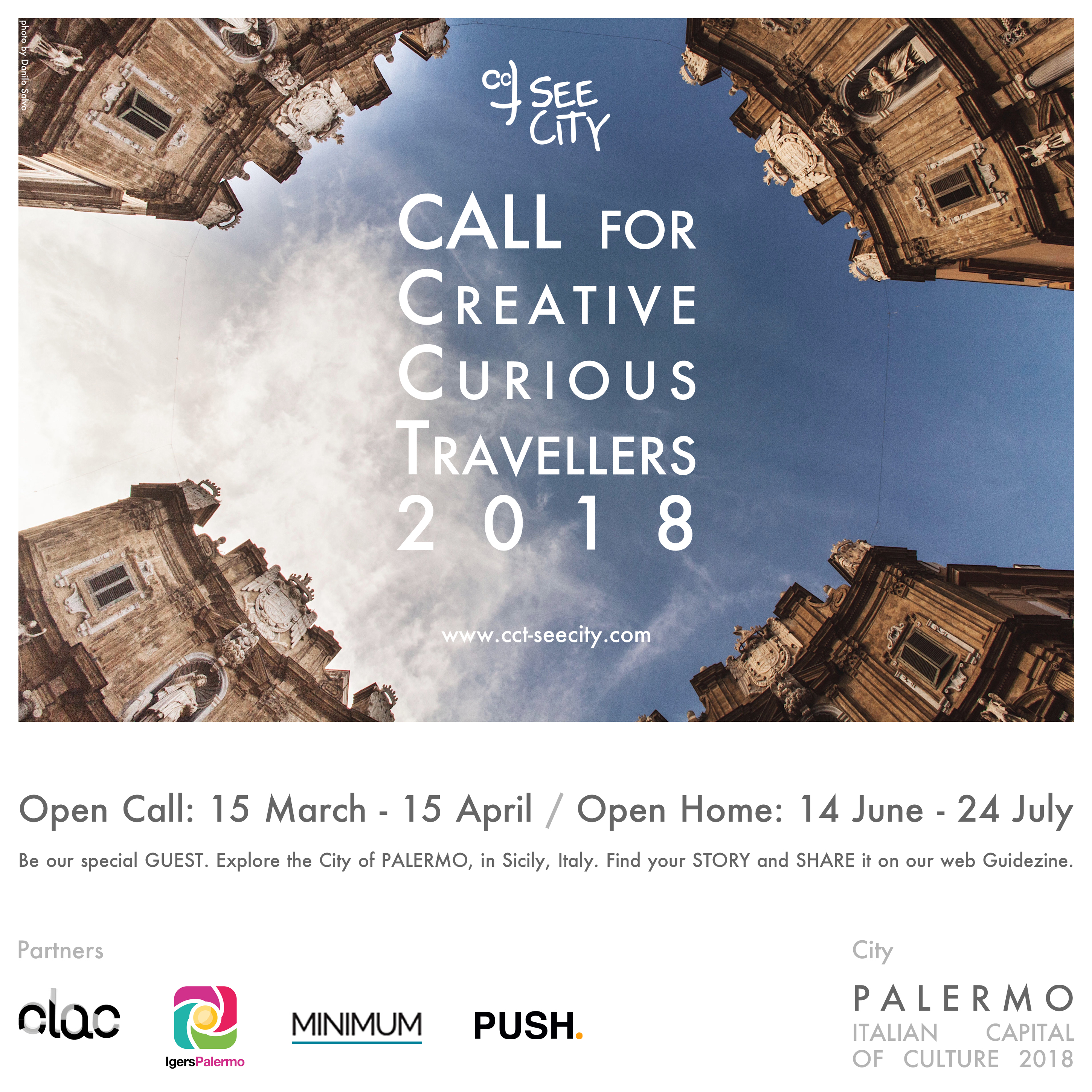 CALL for Creative Curious Travellers 2018 - poster