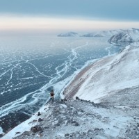 The Lake Baikal in winter