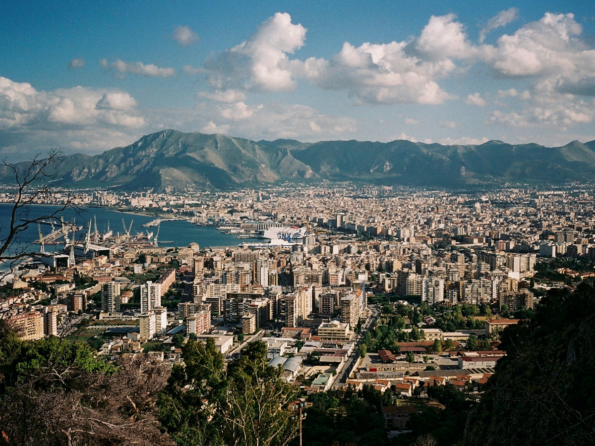 Palermo, the city view from Monte Pellegrino