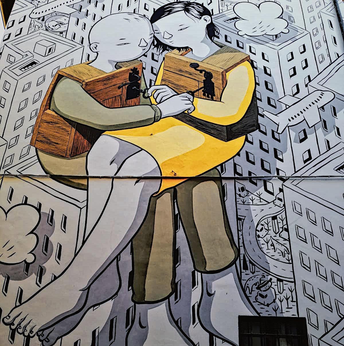 Il murale di Millo