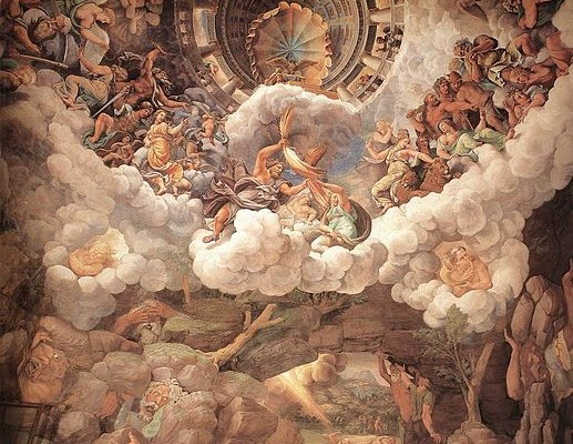 517px-Giulio_Romano_-_View_of_the_Sala_dei_Giganti_(vault_and_south_wall)_-_WGA09544