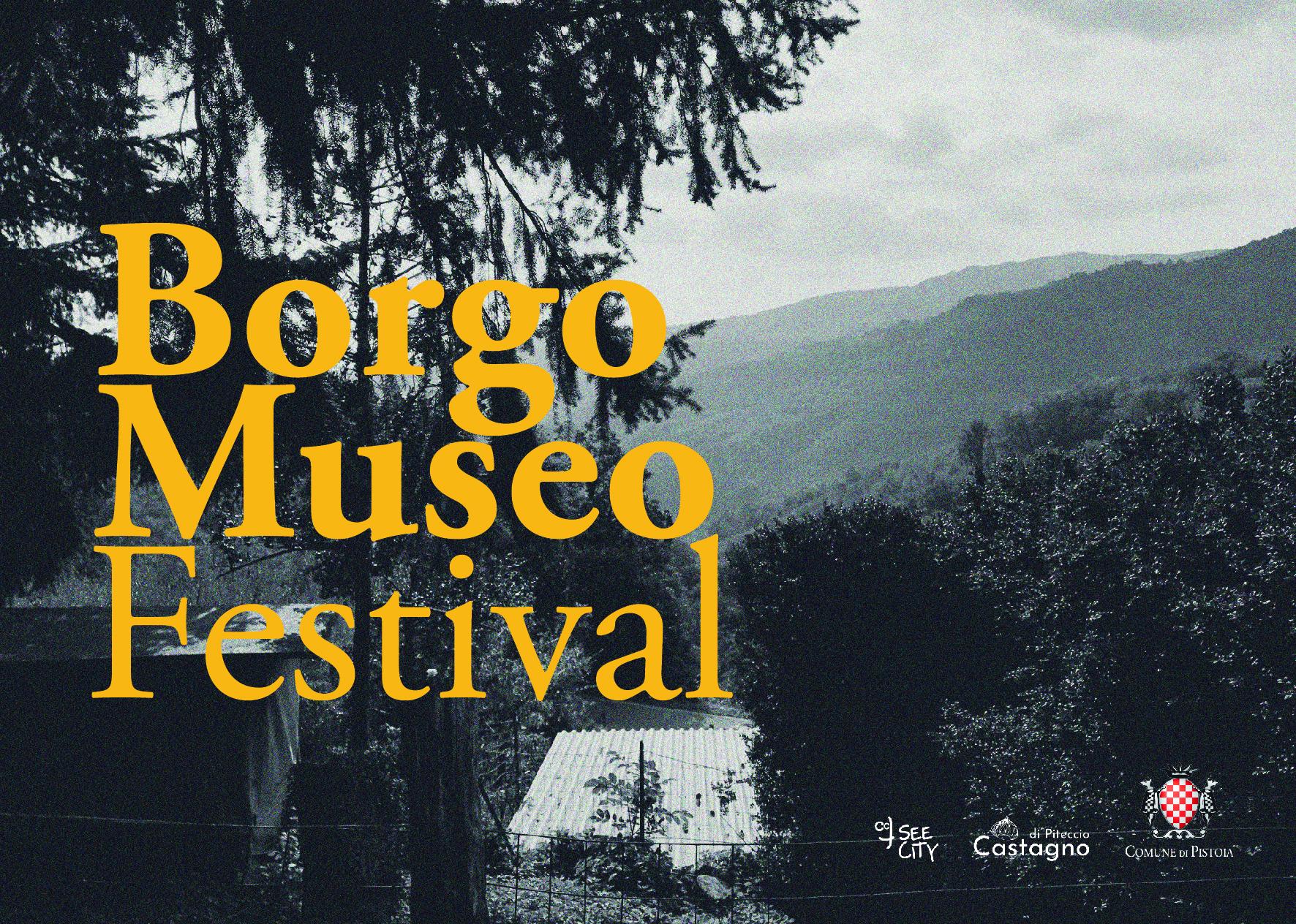 Borgo Museo Festival 2019 Cartolina 01 - loghi